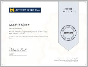 Handy dandy certificate